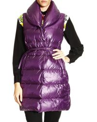 Ermanno Scervino Jacket Long Down Vest with Shawl Collar - Lyst