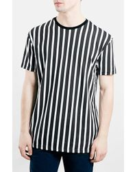 Topman Stripe Oversize T-Shirt - Lyst