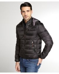 Burberry Black Down Filled Hooded Puffer Coat - Lyst