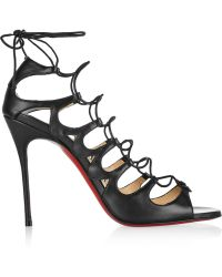 Christian Louboutin Aqueduchesse 100 Leather Sandals - Lyst