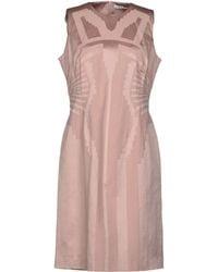 Versace Pink Short Dress - Lyst
