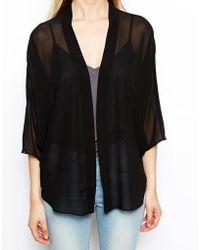 Asos Kimono black - Lyst
