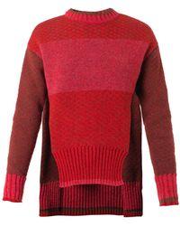 Prabal Gurung Tri-Color Crew-Neck Sweater - Lyst