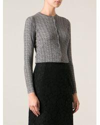 Dolce & Gabbana Chevron Knit Cardigan - Lyst