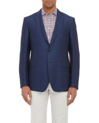 Etro Micro Dobby-weave Two-button Sportcoat - Lyst