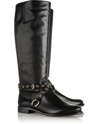 Diane Von Furstenberg Regan Leather Boots - Lyst