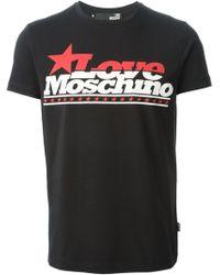 Love Moschino Black Print T-Shirt - Lyst