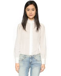 See By Chloé   Ruffle Detailed Blouse - Off White   Lyst