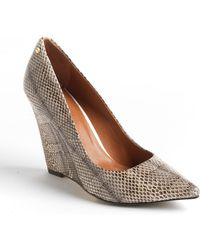 Rachel Roy Allie Snake-Effect Leather Wedges - Lyst
