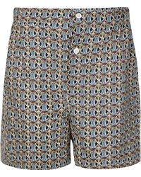 Liberty - Navy Mauverina Cotton Boxer Shorts - Lyst