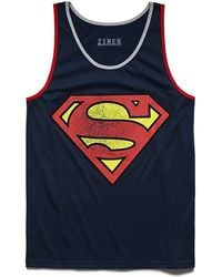 21men Cottonblend Superman Tank - Lyst