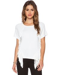 Milly Angled Fringe Tee - Lyst