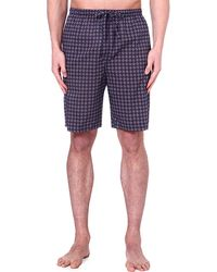 Derek Rose Nelson Printed Loungewear Shorts Navy - Lyst
