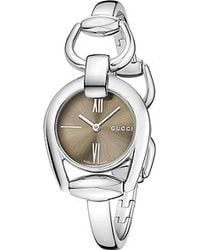 Gucci Horsebit Stainless Steel Bracelet Watch - Lyst
