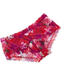 Hanky Panky Blooming Plaid Signature Lace Boyshorts - Lyst