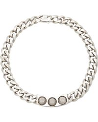 Balenciaga Silver Studded Necklace - Lyst