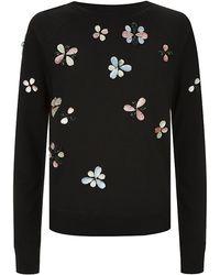 Needle & Thread Petal Jewelled Sweater
