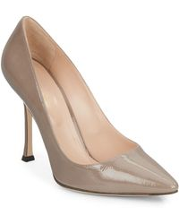 Sergio Rossi Patent Leather Point Toe Pumps - Lyst