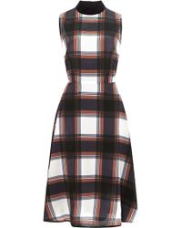 Rodarte Plaidprint Silk Dress - Lyst