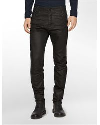 Calvin Klein Tapered Dark Wash Jeans - Lyst
