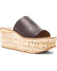 Chloé Leather Cork Wedges - Lyst