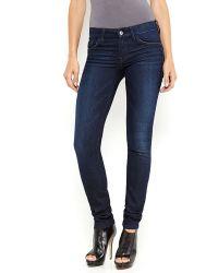 Guess Dark Wash Curvy Sophia Skinny Jeans - Lyst