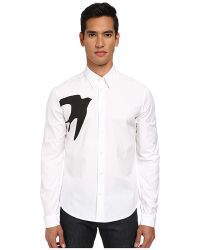 McQ by Alexander McQueen Single Swallow Classic Fitted Button Up - Lyst