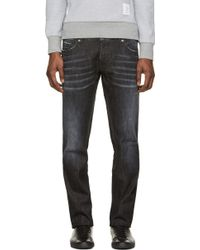 DSquared2 Black Faded and Distressed Slim Jeans - Lyst