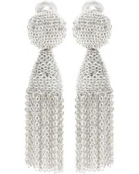 Oscar de la Renta Tassel Clip-On Earrings - Lyst