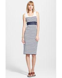 Jean Paul Gaultier Stripe Tank Dress - Lyst
