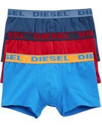 Diesel Men'S Shawn Boxer Briefs 3-Pack - Lyst