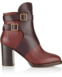 Tod's Twotone Leather Ankle Boots - Lyst