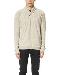 Splendid Mills - Thermal Lined Active Shawl Collar Sweatshirt - Lyst