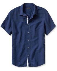 Banana Republic Slim-Fit Embroidered Linen Cotton Shirt blue - Lyst