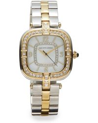 Saks Fifth Avenue - Two-Tone Stainless Steel Jeweled Bracelet Watch - Lyst