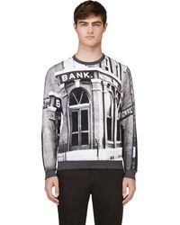 Carven National Bank Print Sweatshirt - Lyst