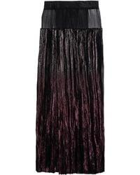 Haider Ackermann Long Skirt purple - Lyst