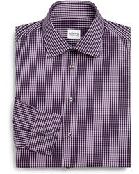 Armani Slim-Fit Checked Cotton Dress Shirt - Lyst