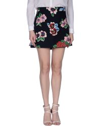 Clements Ribeiro - Chita Floral-Print Pleated Cotton-Blend Mini Skirt - Lyst