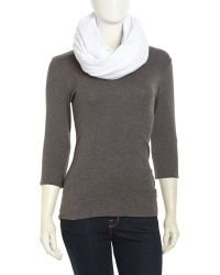 American Apparel Jersey Circle Scarf White - Lyst