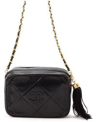 Chanel Pre-Owned Quilted Shoulder Bag With Tassel - Lyst