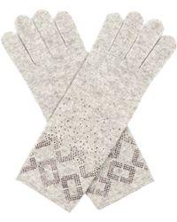 Diane von Furstenberg - Embellished Wool And Cashmere-blend Gloves - Lyst