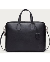 Bally Bresson Men ́s Leather Business Bag In Black