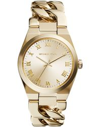 Michael Kors Channing Goldtone Plated Stainless Steel Watch - Lyst