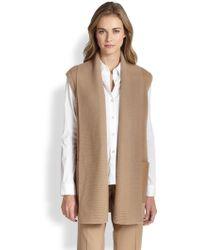 Lafayette 148 New York Wool Contrast-Pocket Vest - Lyst