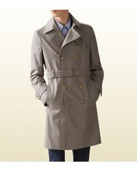 Gucci Cotton Poly Twill Trench Coat - Lyst