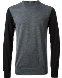 Neil Barrett Colour Block Sweater - Lyst
