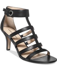 Adrienne Vittadini Goldie Caged Gladiator Sandals - Lyst
