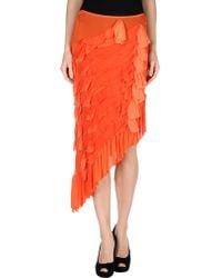 Jean Paul Gaultier Knee Length Skirt - Lyst