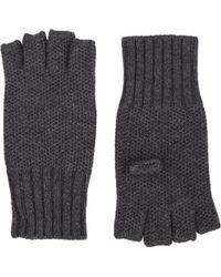 Barneys New York Honeycomb-Knit Fingerless Gloves - Lyst